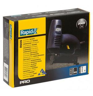 RAPID 2-в-1, тип скоб 55 (C / 14 / 606) (12-25 мм) и 300 (F / J / 47 / 8) (15-25мм), электрический степлер PRO R606 10643001