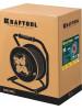 KRAFTOOL 50 м, 4000 Вт, 4 гнезда, IP44, КГ 3x2,5 кв мм, удлинитель на катушке 55086-50