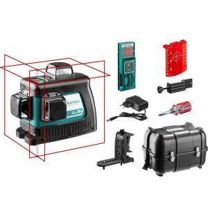 KRAFTOOL линейный лазерный нивелир с детектором и держателем в кейсе LL3D #4 34640-4 Professional