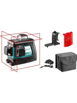 KRAFTOOL линейный лазерный нивелир с держателем LL3D #2 34640-2 Professional