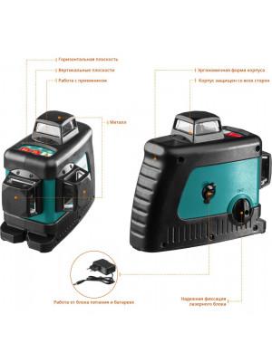 KRAFTOOL линейный лазерный нивелир со штативом LL3D #3 34640-3 Professional