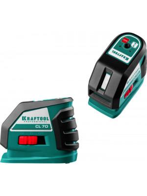 KRAFTOOL линейный лазерный нивелир с детектором в кейсе CL70 #4 34660-4 Professional