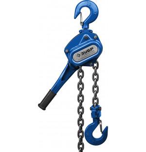 ЗУБР 3т, 1,5 м, таль ручная цепная рычажная 43090-3_z01 Профессионал