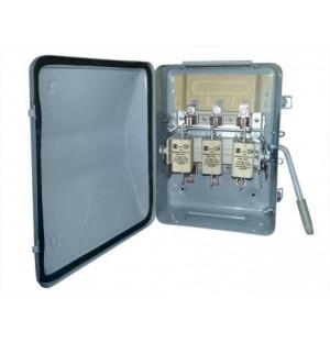 Ящик силовой с рубильником ЯБПВУ-1МУ3 100 А IP54 с ПН2 алюминиевые контакт основания