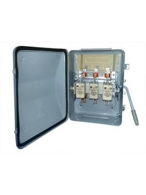 Ящик силовой с рубильником ЯБПВУ 1М 100А IP54 с ПН2 медные контакт основания