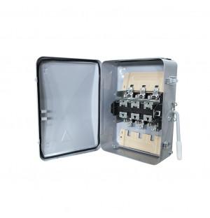 Ящик силовой с рубильником ЯБ2-200-1 У3 IP54 (ЯБПВУ-2-ЯБ3) с ПН2 алюминиевые контакт основания