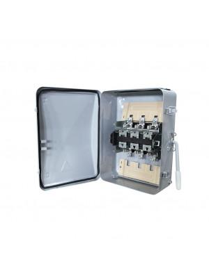 Ящик силовой с рубильником ЯБ2-200-1 У3 IP54 (ЯБПВУ-2 ЯБ3) без ПН-2 алюминиевые контакт основания