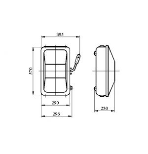 Ящик силовой с рубильником ЯБПВУ 4 ЯБ-3-400-2-У3 400А IP54 Cu (ЯБПВУ 4) с ППН-37
