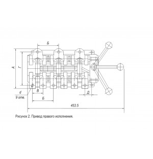 Переключатель-разъединитель ВД1-3551П 250А
