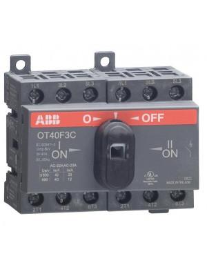 Реверсивный рубильник OT40F3C 40А 3п реверс. (на DIN-рейку)