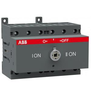 Рубильник реверсивный OT63F3C до 63А 3-полюсный для установки на DIN-рейку или монтажную плату (без ручки)