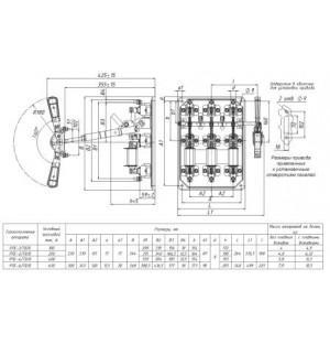 Рубильник РПС-1/Л 100А без ПН левая рукоятка
