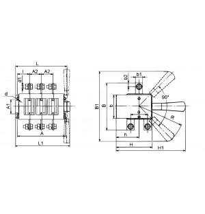 Выключатель-разъединитель ВР32-37-А-70220-00 УХЛ3 лев.