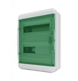 Щит навесной ЩРН-П-24 мод. прозр. зелен. дверь IP65 Tekfor BNZ 65-24-1
