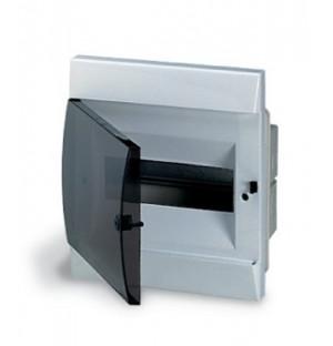UNIBOX бокс в нишу 8М прозр.дверь белый (с клемм)