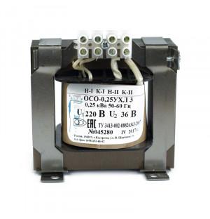 Трансформатор ОСО-0,4 380/36 УХЛ3