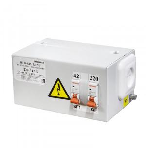 Ящик с понижающим трансформатором ЯТП-0,25 220/42 2авт.