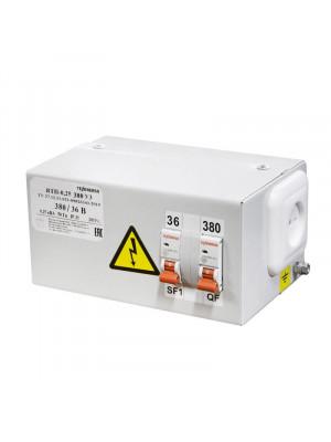 Ящик с понижающим трансформатором ЯТП-0,25 380/36 2авт.